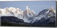 Snowcapped mountain range, Mt Fitzroy, Argentine Glaciers National Park, Santa Cruz Province, Patagonia, Argentina Fine-Art Print