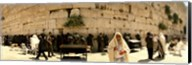 People praying in front of the Wailing Wall, Jerusalem, Israel Fine-Art Print