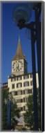 Low angle view of a clock tower, Zurich, Canton Of Zurich, Switzerland Fine-Art Print