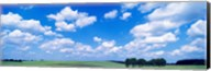 Cumulus Clouds With Landscape, Blue Sky, Germany Fine-Art Print