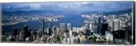 Hong Kong with Cloudy Sky, China Fine-Art Print