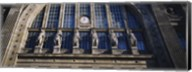 Low angle view of statues on a railroad station building, Gare Du Nord, Paris, France Fine-Art Print