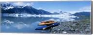 USA, Alaska, Kayaks by the side of a river Fine-Art Print