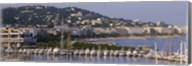 High Angle View Of Boats Docked At Harbor, Cannes, France Fine-Art Print