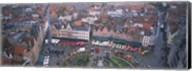 Aerial view of a town square, Bruges, Belgium Fine-Art Print