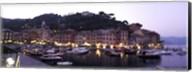 Boats at a harbor, Portofino, Genoa, Liguria, Italy Fine-Art Print