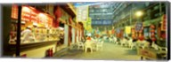 Group of people sitting outside a restaurant, Beijing, China Fine-Art Print