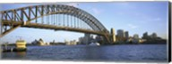 Australia, New South Wales, Sydney, Sydney harbor, View of bridge and city Fine-Art Print