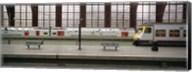 Trains at a railroad station platform, Antwerp, Belgium Fine-Art Print
