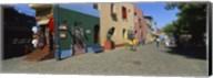 Multi-Colored Buildings In A City, La Boca, Buenos Aires, Argentina Fine-Art Print