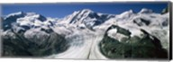Snow Covered Mountain Range and Glacier, Matterhorn, Switzerland Fine-Art Print