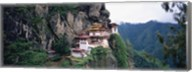 Monastery On A Cliff, Taktshang Monastery, Paro, Bhutan Fine-Art Print