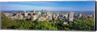 High angle view of a cityscape, Parc Mont Royal, Montreal, Quebec, Canada Fine-Art Print