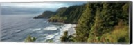 High angle view of a coastline, Heceta Head Lighthouse, Oregon, USA Fine-Art Print