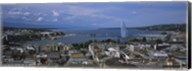 Buildings in a city, Lake Geneva, Lausanne, Switzerland Fine-Art Print