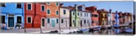 Houses at the waterfront, Burano, Venetian Lagoon, Venice, Italy Fine-Art Print