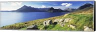 Rocks on the hillside, Elgol, Loch Scavaig, view of Cuillins Hills, Isle Of Skye, Scotland Fine-Art Print