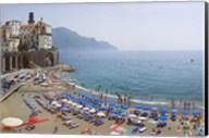 Houses on the sea coast, Amalfi Coast, Atrani, Salerno, Campania, Italy Fine-Art Print
