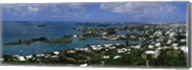 Buildings along a coastline, Bermuda Fine-Art Print