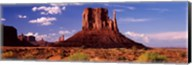 Rock formations on a landscape, The Mittens, Monument Valley Tribal Park, Monument Valley, Utah, USA Fine-Art Print
