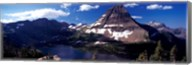 Mountain range at the lakeside, Bearhat Mountain, Hidden Lake, Us Glacier National Park, Montana, USA Fine-Art Print