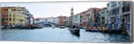 Buildings at the waterfront, Rialto Bridge, Grand Canal, Venice, Veneto, Italy Fine-Art Print