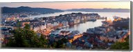 Buildings in a city, Bergen, Hordaland County, Norway Fine-Art Print