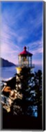 Lighthouse at a coast, Heceta Head Lighthouse, Heceta Head, Lane County, Oregon (vertical) Fine-Art Print