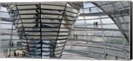 Mirrored cone at the center of the dome, Reichstag Dome, The Reichstag, Berlin, Germany Fine-Art Print
