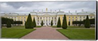 Facade of a palace, Peterhof Grand Palace, St. Petersburg, Russia Fine-Art Print