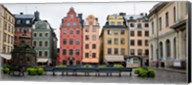 Benches at a small public square, Stortorget, Gamla Stan, Stockholm, Sweden Fine-Art Print