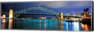 Sydney Harbour Bridge with the Sydney Opera House in the background, Sydney Harbor, Sydney, New South Wales, Australia Fine-Art Print