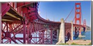 High dynamic range panorama showing structural supports for the bridge, Golden Gate Bridge, San Francisco, California, USA Fine-Art Print