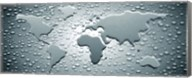 Water drops forming continents (black and white) Fine-Art Print
