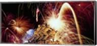 Digital Composite, Fireworks Highlight the Marine Corps War Memorial, Arlington, Virginia, USA Fine-Art Print