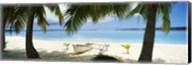Outrigger boat on the beach, Aitutaki, Cook Islands Fine-Art Print
