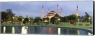 Blue Mosque Lit Up at Dusk, Istanbul, Turkey Fine-Art Print