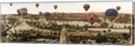 Mulit colored hot air balloons at sunrise over Cappadocia, Central Anatolia Region, Turkey Fine-Art Print