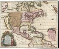 1698 Louis Hennepin Map of North America Fine-Art Print