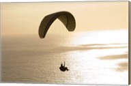 Silhouette of a paraglider flying over an ocean, Pacific Ocean, San Diego, California, USA Fine-Art Print
