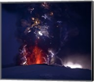 Close Up of an Erupting Volcano, Eyjafjallajokull, Iceland Fine-Art Print