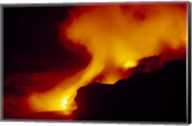 Lava from an Erupting Volcano, Big Island, Hawaii Fine-Art Print