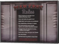 Man Cave Rules in a Locker Fine-Art Print