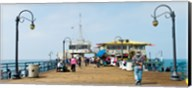 Tourists on Santa Monica Pier, Santa Monica, Los Angeles County, California, USA Fine-Art Print