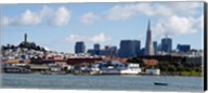 Buildings at the waterfront, Transamerica Pyramid, Coit Tower, Fisherman's Wharf, San Francisco, California, USA Fine-Art Print