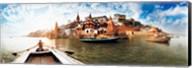 Boats in the Ganges River, Varanasi, Uttar Pradesh, India Fine-Art Print