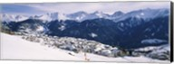 Ski resort with mountain range in the background, Fiss, Tirol, Austria Fine-Art Print