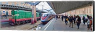 Bullet train at a railroad station, St. Petersburg, Russia Fine-Art Print