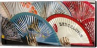Fans for sale in souvenir shop, Barcelona, Catalonia, Spain Fine-Art Print