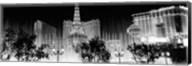 Las Vegas Hotels at Night (black & white) Fine-Art Print